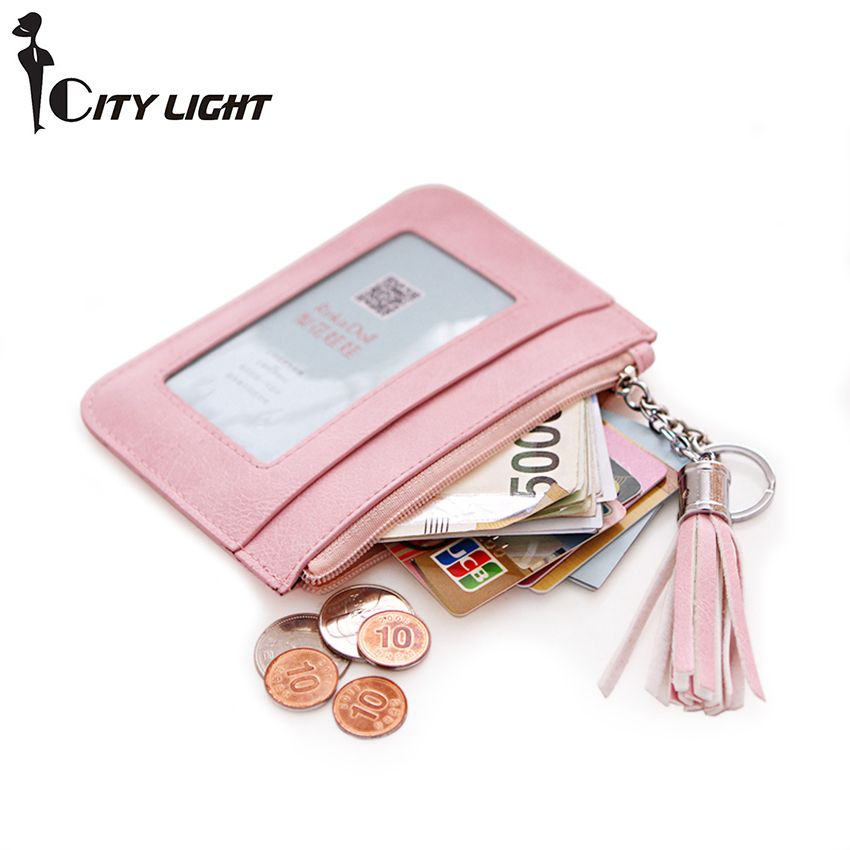 Brand women coin purse fashion short zipper small wallets Ultra-thin fresh coin bags key bag