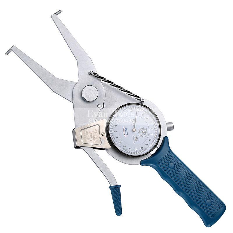 Inside Dial Caliper Gauges Metric 55-75*90mm/0.01mm Shockproof Carbide Points Micrometer Measuring Tools