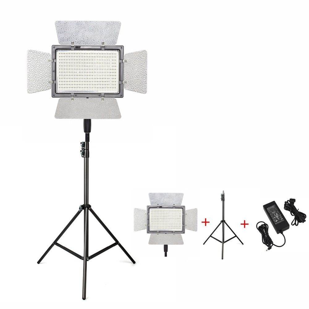 YONGNUO YN900 Pro LED Video Light Lamp Photography 5500K Camera APP Control 900Pcs LED Outside Lighting+2M Light Stand+Adapter