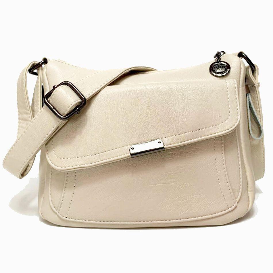 Sac blanc d'été 2019 sacs à main en cuir souple de luxe pour femmes sacs à bandoulière Designer pour femmes Sac à bandoulière Sac à main femme