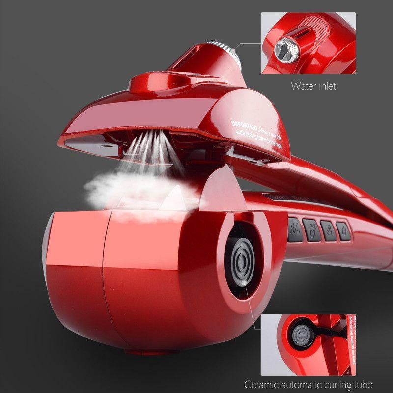CkeyiN Professional Automatic Hair Steam Curler Electric Hair Curler Ceramic Curling Iron Wand Auto Steam Spray Salon Tools 30