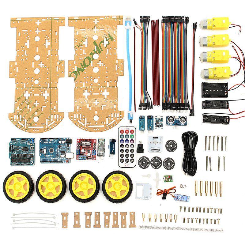 Высокое качество DIY 4WD умный робот Car Kit bluetooth ИК препятствий избежать линия DIY робот следовать L298N для Arduino электронные игрушки
