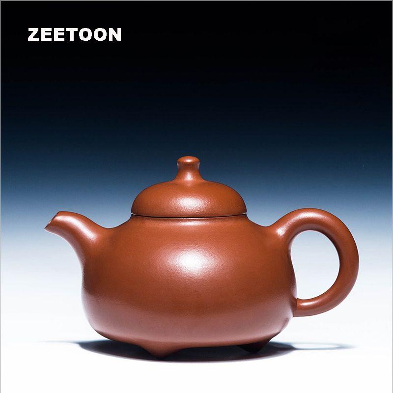 210cc Authentic Yixing Teapot Health Care Purple Clay Handmade Chinese Kung Fu Tea Set Zisha Kettle Puer Tea Pot Red Ru Ding Pot