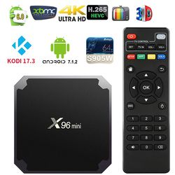 [X96mini] Android 7.1 TV caja amlogic S905W Quad Core UHD 4 K H.265 WiFi Kodi IPTV Ram 1 GB/2 GB Rom 8 GB/16 GB Media Player PK T95N
