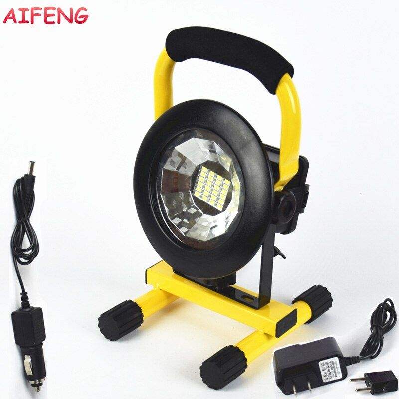 AIFENG 30W Led Portable Spotlight 24Leds 5730 2400LM Led Floodlight 18650 Battery Rechargeable Portable Spotlight Camping Lights