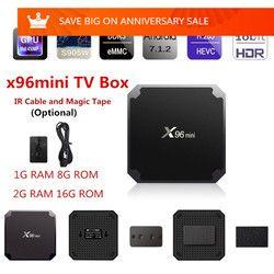 X96 mini X96 TV Box Smart Android 7.1 S905W 2.4 GHz WiFi Wifi 4 K HD Media Player X96Mini Set Top Box IPTV 1G 8G Android TV Box