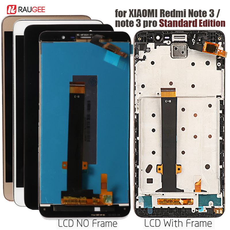 Affichage pour Xiaomi Redmi Note 3 écran tactile LCD avec rétroéclairage/cadre à touches souples pour Redmi Note 3 Pro/Prime Display 5.5