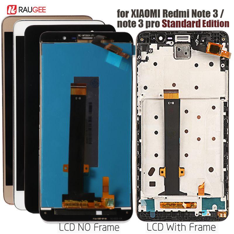 Affichage pour Xiaomi Redmi Note 3 écran tactile LCD rétro-éclairage à touches souples/cadre pour Redmi Note 3 Pro affichage 150mm édition Standard