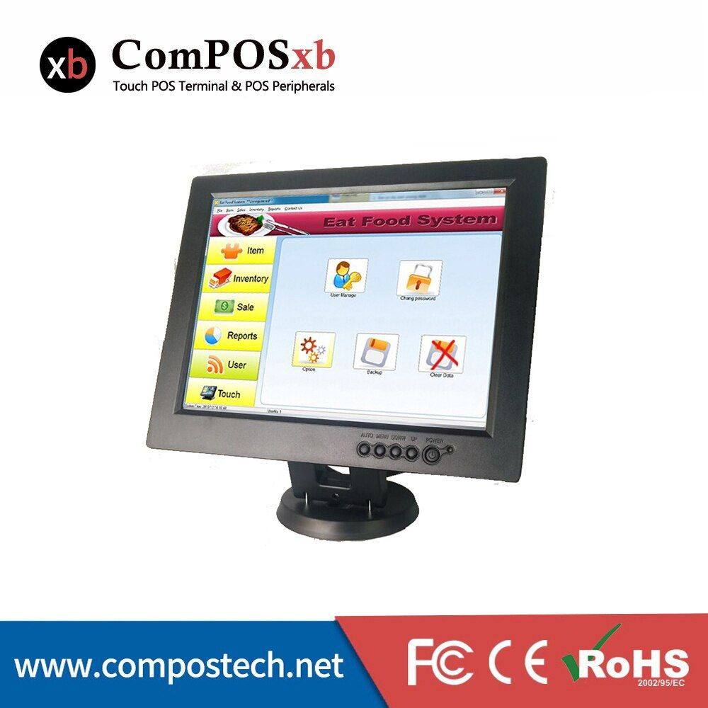 free shipping 12inch LED Touch Screen POS System  POS machine for retail shop TM1201