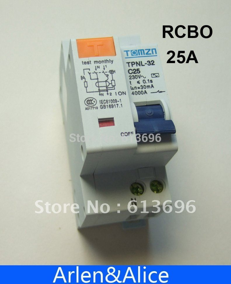 DPNL 1 P + N 25A 230 V ~ 50 HZ/60 HZ fehlerstromschutzschalter mit über strom und Leck RCBO