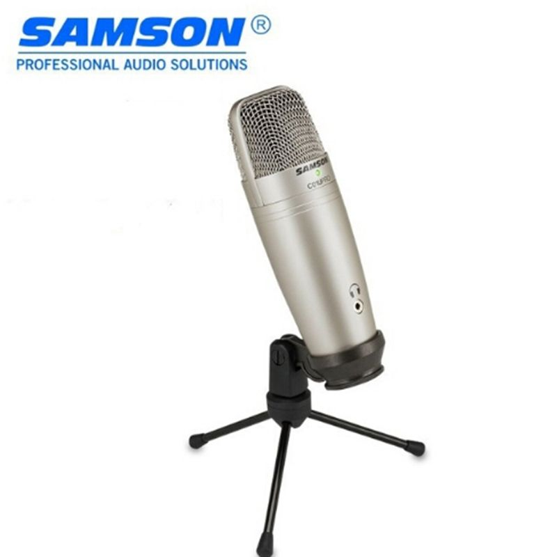100% Original SAMSON C01U Pro USB Studio Condenser Microphone for recording music ADR work Sound Foley audio for YouTube videos