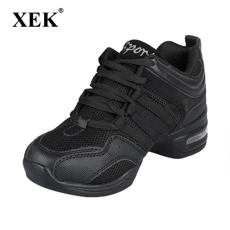 New 2018 Dance Shoes For Girls Sports Soft Outsole Breath women Practice Shoes Modern Jazz Dance Shoes Sneakers free gift