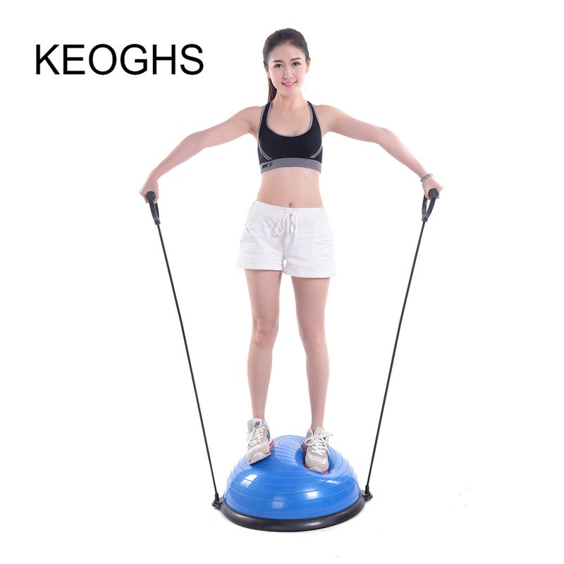 2018 new model High quality yoga ball body balance half ball fitness BOSU ball exercise gym ball Sport Fitball Proof