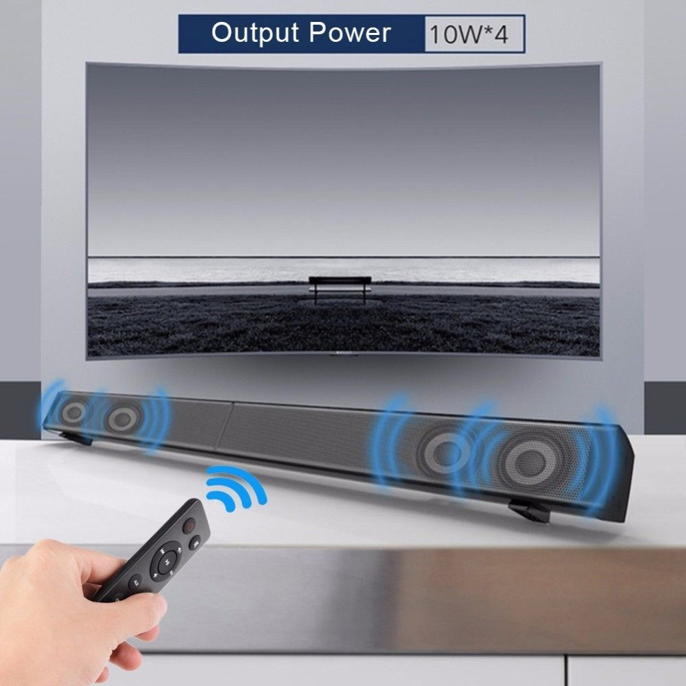 Sound Bar LP-09 Subwoof Bluetooth Speaker Home TV Echo Wall Soundbar Wall-mounted Remote Control U-disk Plugging Speaker