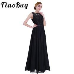 TiaoBug Pearl Pink Lace Floor Length Bridesmaid Dresses 2020 Sleeveless Elegant Lace Women Bridal Formal Party Ladies Dresses