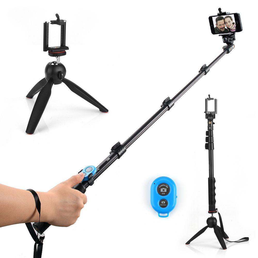 4 в 1 Yunteng 188 Selfie штатив Para + Yunteng 228 мини-штатив + Bluetooth Дистанционное управление автоспуска камера затвора для телефона