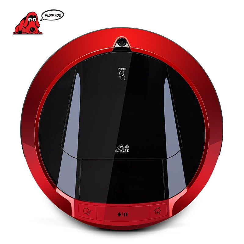 PUPPYOO Multifunctional Robotic Vacuum Cleaner Self-Charge Sweep <font><b>Home</b></font> Collector Suction LED Touch Screen Side Brushes V-M900R