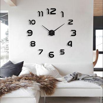 2019 new clock watch wall clocks horloge 3d diy acrylic mirror Stickers Home Decoration Living Room Quartz Needle free shipping