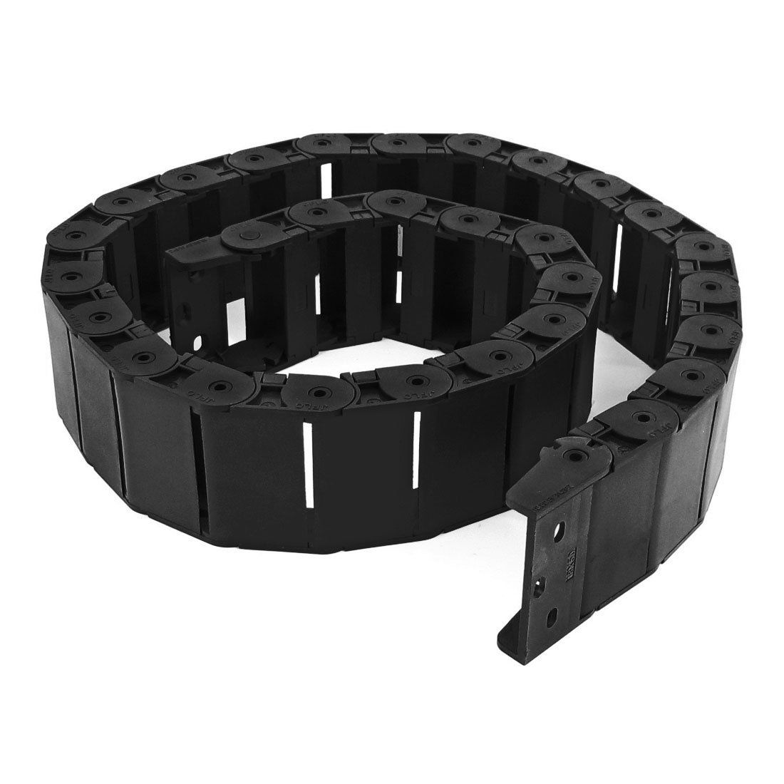 DSHA New Hot 40.55 Black Cable Wire Carrier Drag Chain Nested 18x50mm