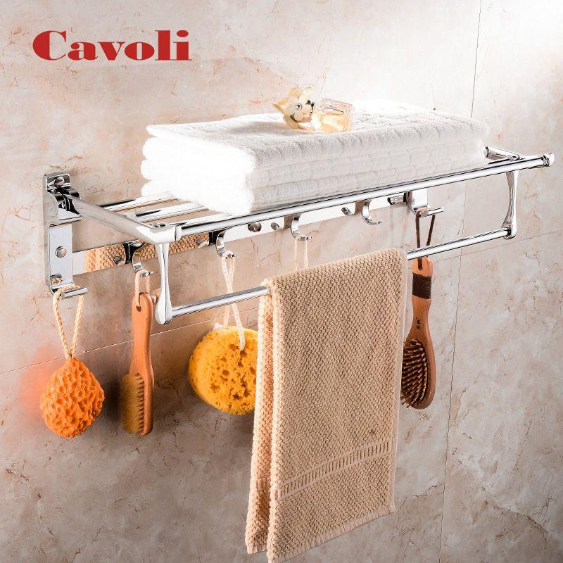Cavoli 50 CM Edelstahl Chrom Faltbare Handtuchhalter Handtuch Regale Handtuchhalter Bad Hardware Bad #10087-50 cm