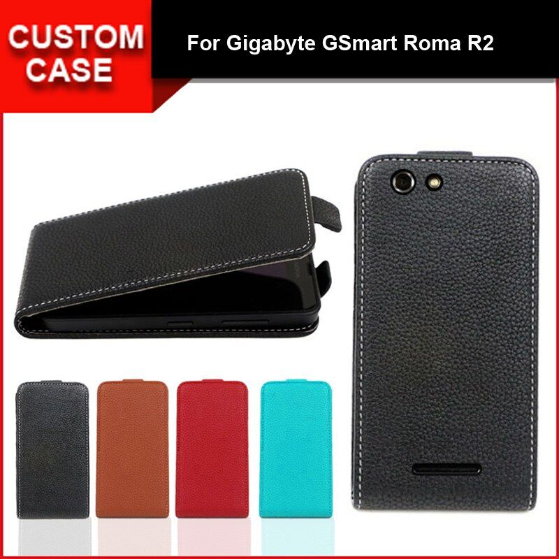Luxury flip vertical cover bag flip up and down PU Leather Case for Gigabyte GSmart Roma R2, free gift