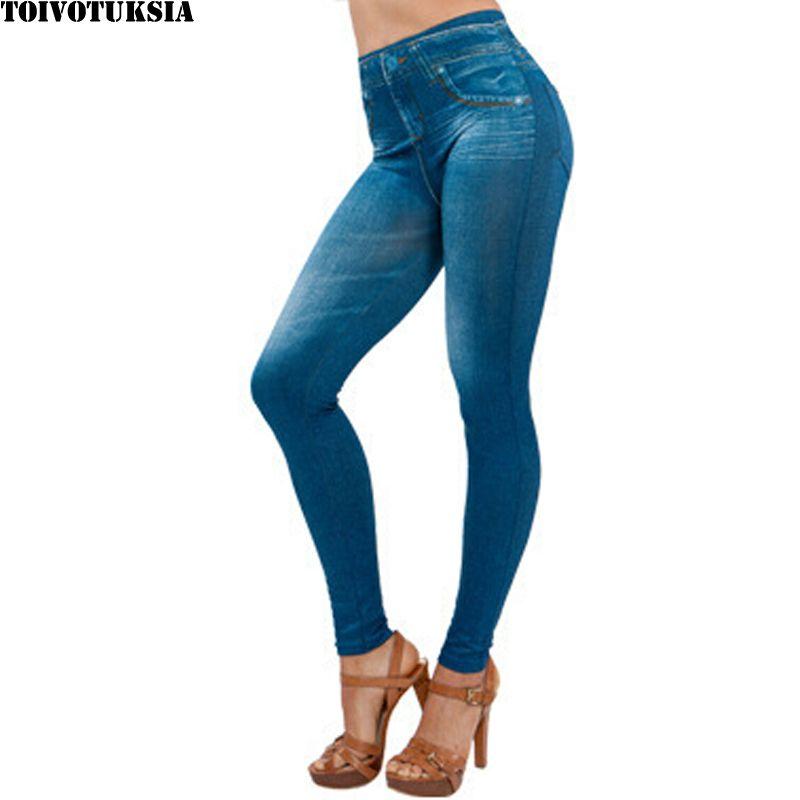 TOIVOTUKSIA Plue taille femmes polaire doublé hiver Jegging Jean offre spéciale Genie Slim mode Jegging Leggings deux vraies poches