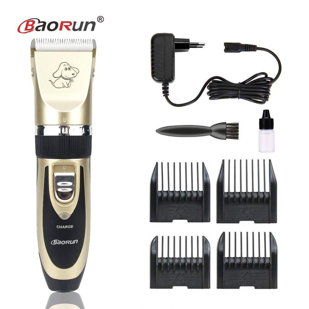 2018 Professionnel kit de nettoyage Rechargeable Chien Chat Tondeuse qualité supérieure Électrique Clipper ensemble de rasage tondeuse à cheveux