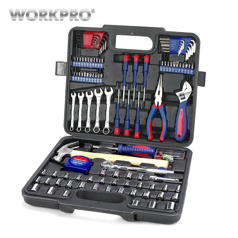 Outils de maison WORKPRO ensemble d'outils ménagers ensemble d'outils de réparation de maison ensemble d'outils à main bricolage jeu de douilles