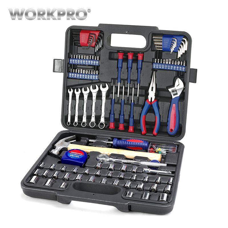 WORKPRO ensemble d'outils à domicile Kits d'outils ménagers jeu de douilles jeu de tournevis outils de réparation à domicile pour outils à main bricolage