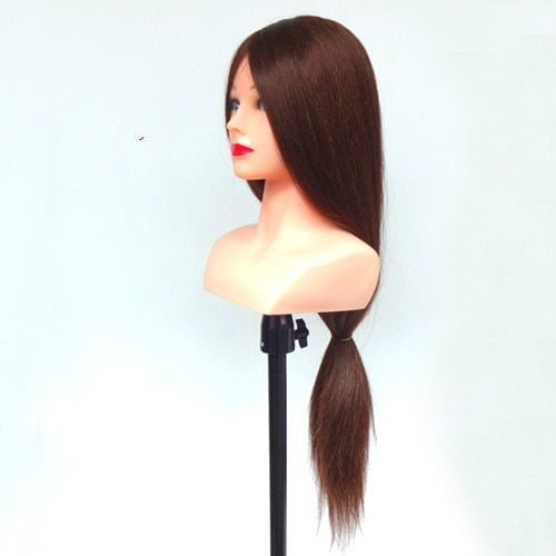 29inch 85% Real Hair Hairdressing Doll Heads With Shoulder Cosmetology Practice Training Mannequin Head With Human Hair