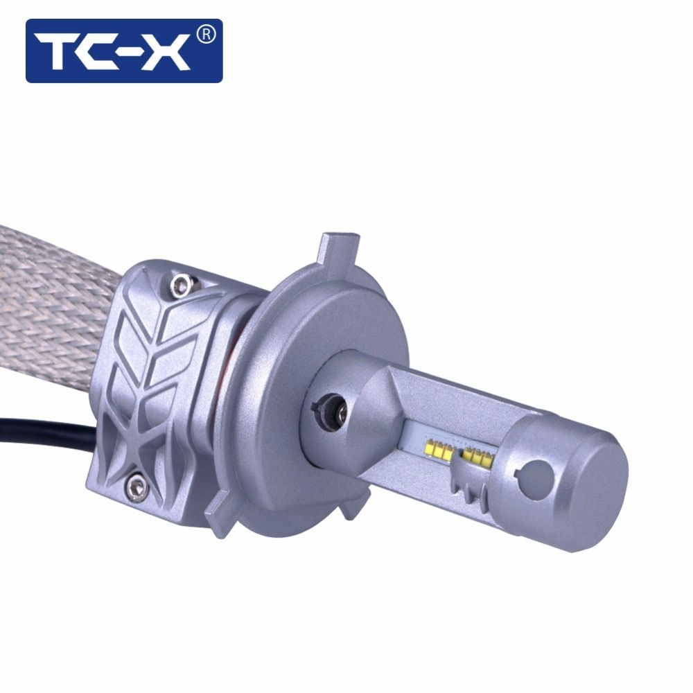 TC-X Luxeon ZES LED Lens Headlight H4 9003 H11 H8 H9 9005 HB3 9006 H7 CANBUS Car Reflector LED Headlight Replacement Bulbs Kit