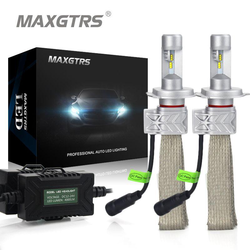 2x H4 9003 9004 9007 H13 HB2 Car Headlight Conversion Kit DRL 8000lm For Lumileds Chip Lumileds Hi/Lo Dual Beam Fog Light Bulbs