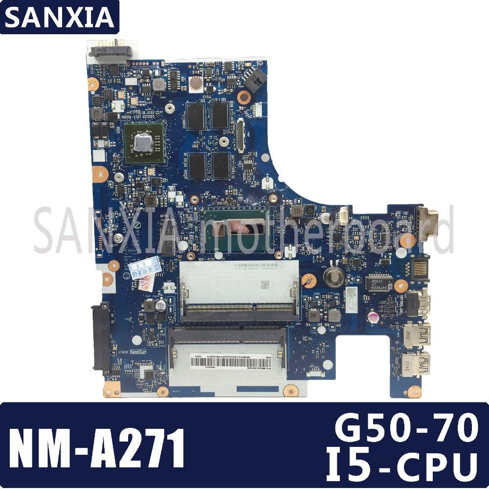 KEFU ACLU1/ACLU2 NM-A271 Laptop motherboard for Lenovo G50-70 NoteBook Computer Test original motherboard REV1.0 I5-CPU