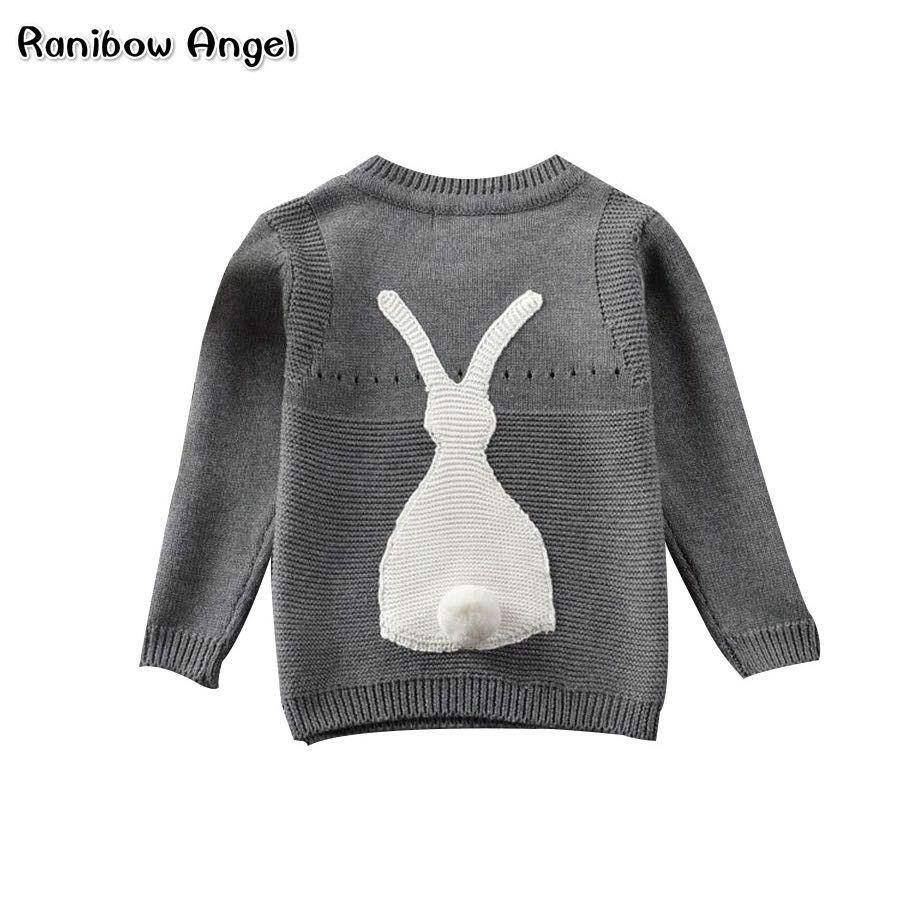 Autumn Baby Boys Girls Sweater Toddler Girls Jumper Knitwear Rabbit Long-Sleeve Pullover for Girls and Boys Children's Clothing