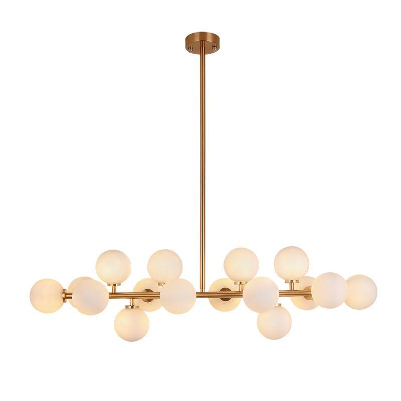 wongshi Modern Gold Black Frosted Glass Ball Pendant Lamp Minimalist Creative Personality Magic Bean Retro Pendant Lights