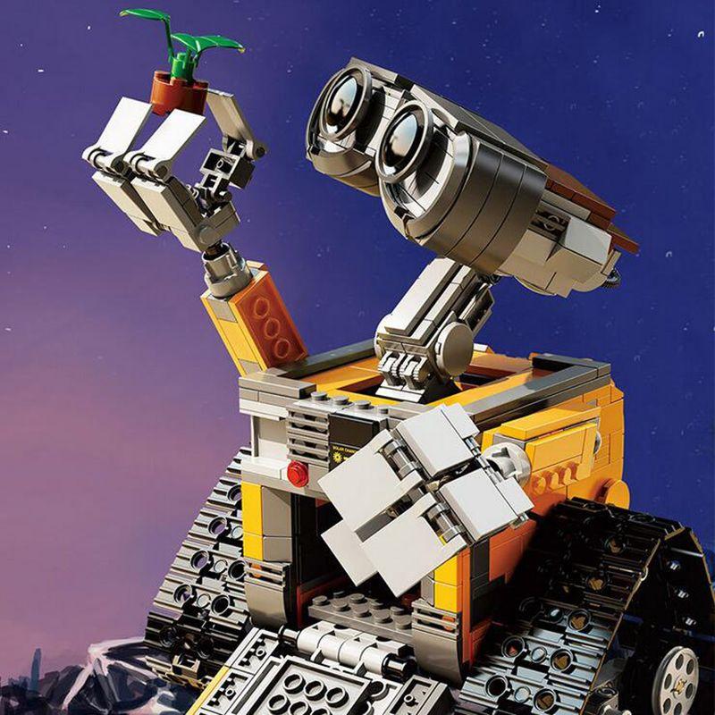HOT 687Pcs Idea Robot WALL E Building Blocks Bricks Blocks Toys for Children WALL-E Birthday Gifts