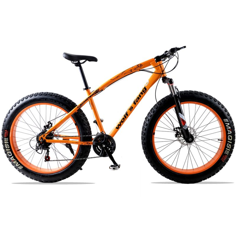 for Russia mountain bike 7/21speed bicycle 26x4.0 fat bike Spring Fork snow bike road bike Front and Rear Mechanical Disc Brake