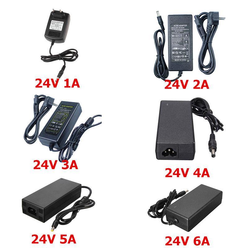 2016 Date 24 V Alimentation AC 100/240 V à 24 V 1A 2A 3A 4A 5A 6A Transformateur UE US Adaptateur Pour 24 V 5050 3528 Led Bande Lampe