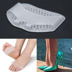 1 Paire Silicone talon Doux Avant-Pied Demi-Mètre Tapis Invisible Chaussures À Talons Hauts Antidérapante Demi-Mètre Tapis Soins des Pieds outils