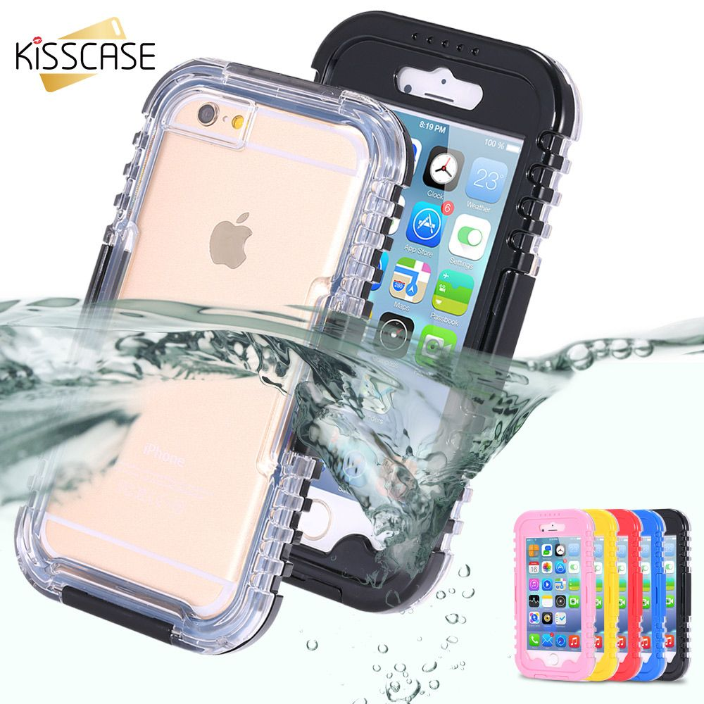 KISSCASE Waterproof Heavy Swimming Dive Case For iPhone 6 6S 7 8 Plus X 10 4.7 & 5.5 5S SE 4 4S Water Dirt Shockproof Phone Bag