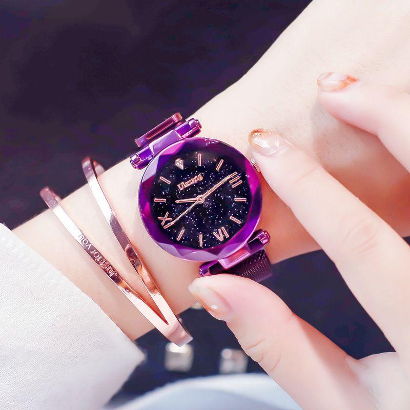 Ins super hot popular watch female Tik Tok magnet star fashion trend Korean casual students women dress quartz wristwatches