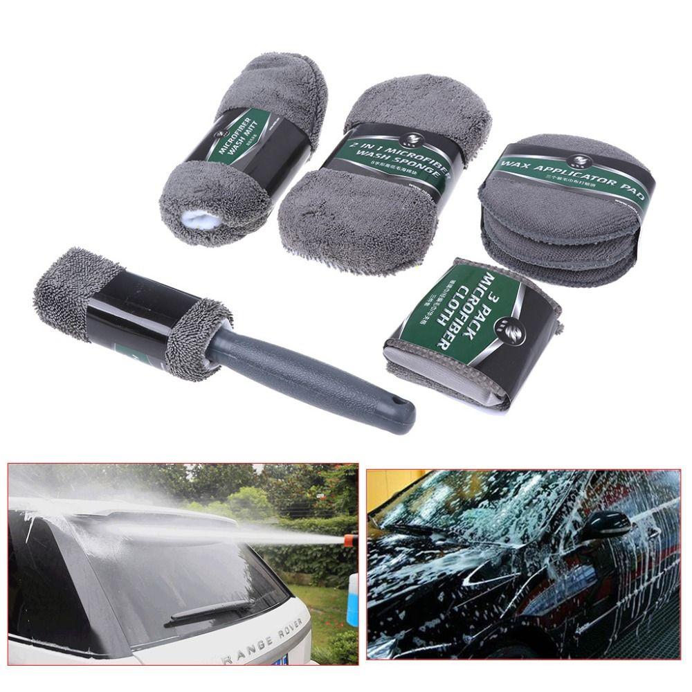 Car Cleaning Kit Wheel Windscreen Cleaning Polishing Kit Car Care 9PCS/SET A11