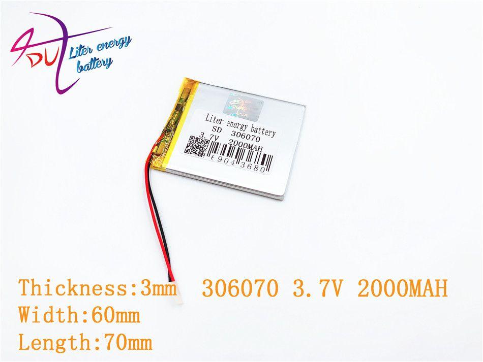 306070 036070 3.7 V 2000 MAH Rechargeable li polymère batterie pour PSP PDA GPS DVR E-Book tablette PC batterie externe Wexler livre E6005