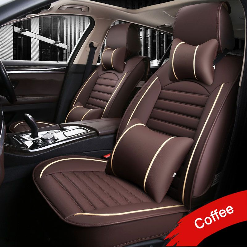 LUNDA Leather PU car seat covers For Toyota RAV4 PRADO Highlander COROLLA Camry Prius Reiz CROWN yaris car accessories styling