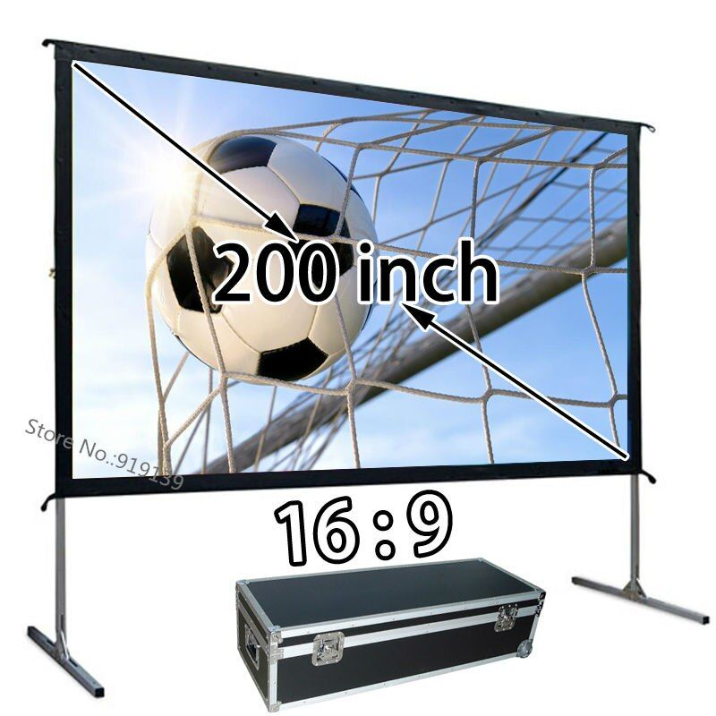 AliExpress Top Rate Verkäufer HD Bild Bildschirm 200 schnell Geöffnet Tragbare Projektor Projektion Bildschirm 16:9 Verhältnis Für Große Party Zeigen