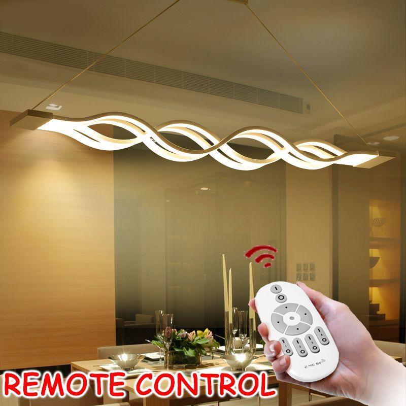 L100CM 120cm 60cm New Creative modern LED pendant lights Wave hanging pendant lamp for dining room living room kitchen AC85-265V