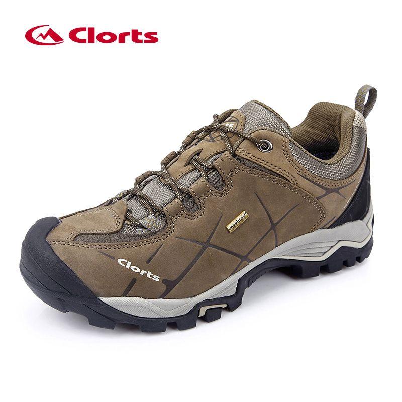 New Clorts Men Hiking Shoes Nubuck Climbing Shoes Waterproof Outdoor Trekking Shoes Genuine Leather Mountain Shoes HKL-805A