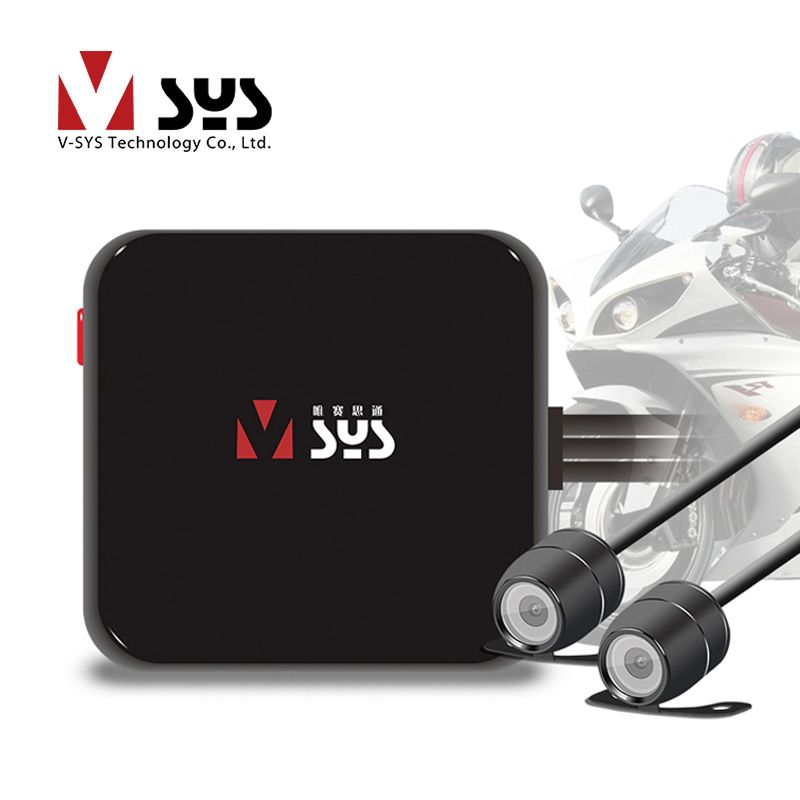 Vsys C6L Mini Moto DVR Caméra Enregistreur D1 Double Séparé Imperméable à l'eau Objectif Boîte Noire Blackbox Dédié Conception pour Moto