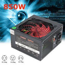 ATX-PC US/AU/UE Plug 80% Efficacité 850 W PC BTC Alimentation 850 Watt 24 Broches PCI SATA ATX 12 V Molex Mineur Ordinateur Puissance fournir