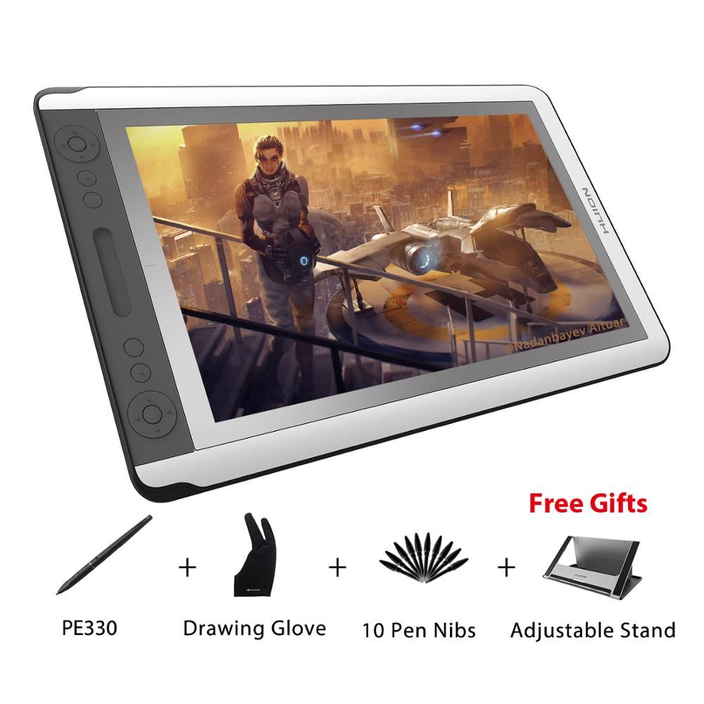 HUION KAMVAS GT-156HD V2 15.6 Graphics Drawing Monitor Full HD Screen Digital Pen Tablet Display Monitor with 8192 Levels